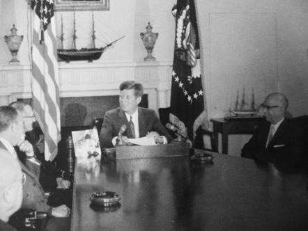 North Carolina Mutual President Asa Spaulding Meets with John F. Kennedy