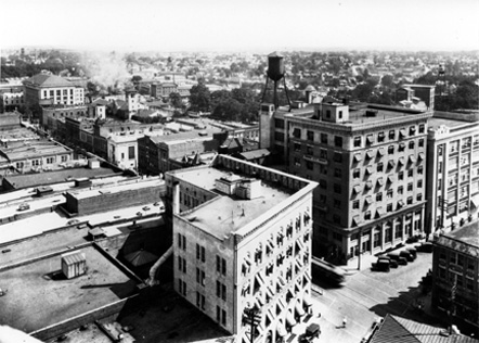 Intersection of Main and Corcoran Streets, 1920s