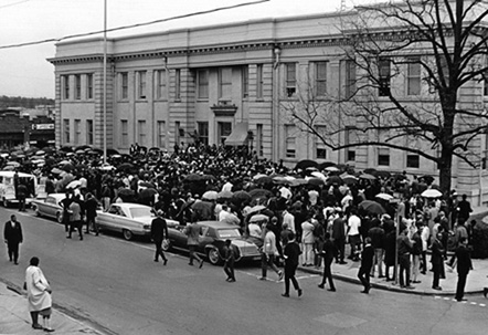 Civil Rights Demonstration after the Assassination of Martin Luther King, Jr.