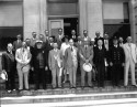 Durham Dignitaries in front of City Hall, 1920s