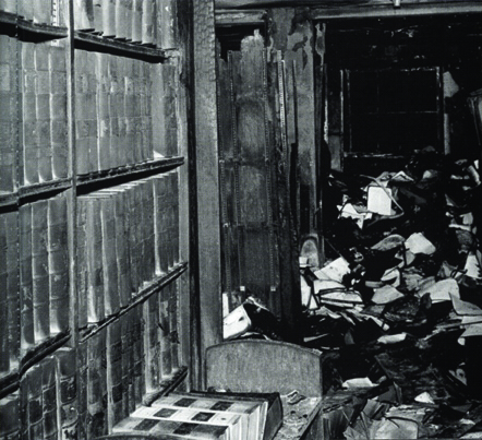 Aftermath of Law Library Fire, North Carolina Central University