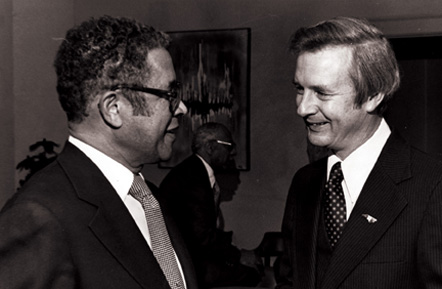 Dean Harry Groves, North Carolina Central University School of Law, and Governor Jim Hunt