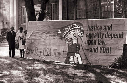Law Day Banner, North Carolina Central University School of Law
