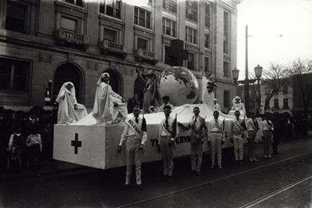 World War I-era Red Cross Float