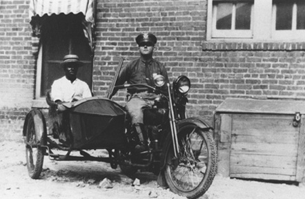Police Officer on Motorcycle with Sidecar